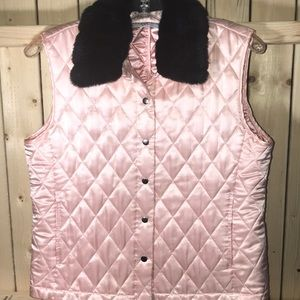 Marisa Christina silk pink padded vest Small